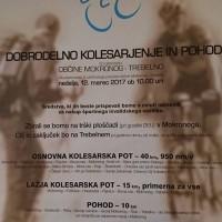 DOBRODELNO KOLESARJENJE OBČINE MOKRONOG-TREBELNO 12.03. 10.00