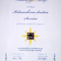 Priznanje Turistične zveze in Olimpijskega komiteja Slovenije