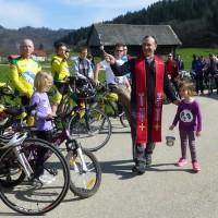 2. Blagoslov kolesarjev na Šmarčni  na Cvetno nedeljo 29.03.