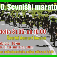20. Sevniški maraton, nedelja 31.05. ob 10.00